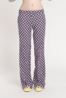 SS14 LIGHT ON LATTICE SEMI FLARE TROUSERS
