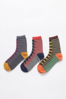 AW16 GRAPHIC FOLK ANKLE SOCKS